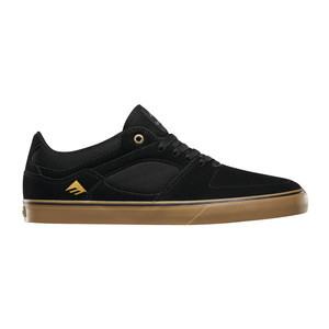 Emerica Hsu Low Vulc Skate Shoe - Black/Gum