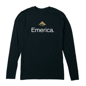 Emerica Skateboard Logo Long Sleeve T-Shirt - Black