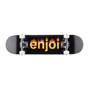 "Enjoi Helvetica Flame 7.25"" Complete Skateboard - Black"