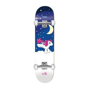 """Enjoi My Little Pony Nighttime 7.0"""" Complete Skateboard - Glow In The Dark"""