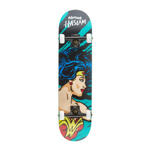 "Almost Haslam Sketchy Wonder Woman 7.75"" Complete Skateboard"