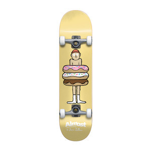 "Almost Donuts Youth 7.0"" Complete Skateboard - Yellow"