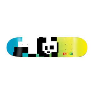 """Enjoi 8-Bit Panda 8.38"""" Skateboard Deck - Blue/Yellow"""