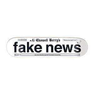 "Enjoi Caswell Fake News 8.0"" Skateboard Deck"