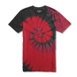 etnies Blood Spiral Tie-Dye T-Shirt — Maroon