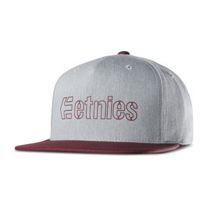 etnies Corporate 5 Snapback Hat — Red/Heather