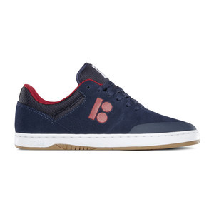 etnies x Plan B Marana Skate Shoe - Navy/Red/White