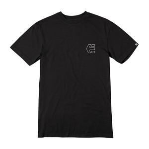 etnies Mini Icon Outline T-Shirt — Black