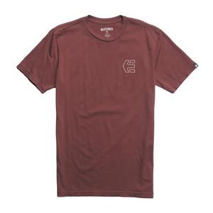 etnies Mini Icon Outline T-Shirt — Maroon
