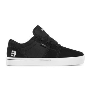 etnies Barge LS Kids Skate Shoe - Black / White