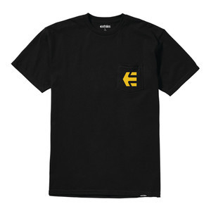 etnies Icon Pocket T-Shirt - Black/Gold