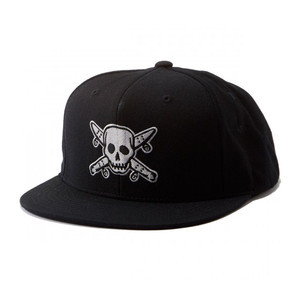 Fourstar Street Pirate Snapback Hat - Black