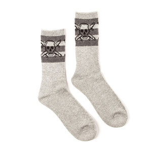 Fourstar Pirate Stripe Sock - Grey