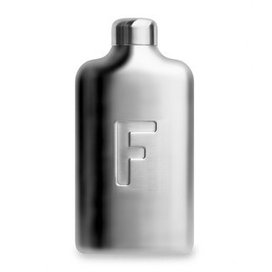 Fred Stainless Steel Water Bottle - Brushed Steel
