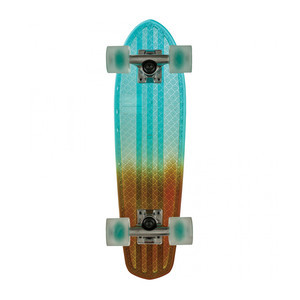 "Globe Bantam Clear 24"" Cruiser Skateboard - Light Blue/Amber Fade"