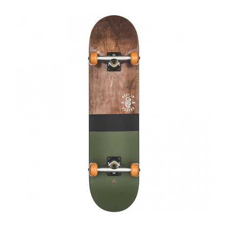 "Globe Half Dip 8.0"" Complete Skateboard - Dark Maple/Hunter Green"