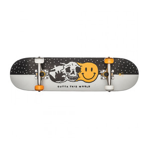 "Globe Outta This World 7.6"" Youth Complete Skateboard - White/Black"