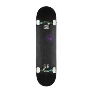 """Globe Raised Up 7.75"""" Complete Skateboard - Black on Black"""