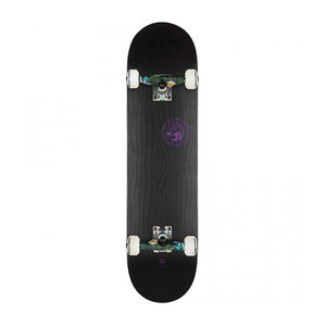 "Globe Raised Up 7.75"" Complete Skateboard - Black on Black"