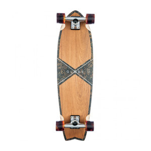 "Globe Chromantic 33"" Cruiser Skateboard - Teak/Floral Couch"