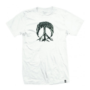 Gnarly 3D Peace Tree T-Shirt - White