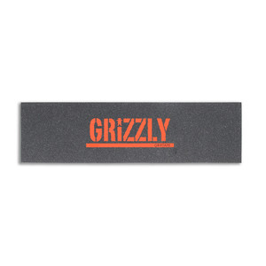 Grizzly Orange Stamp Skateboard Griptape