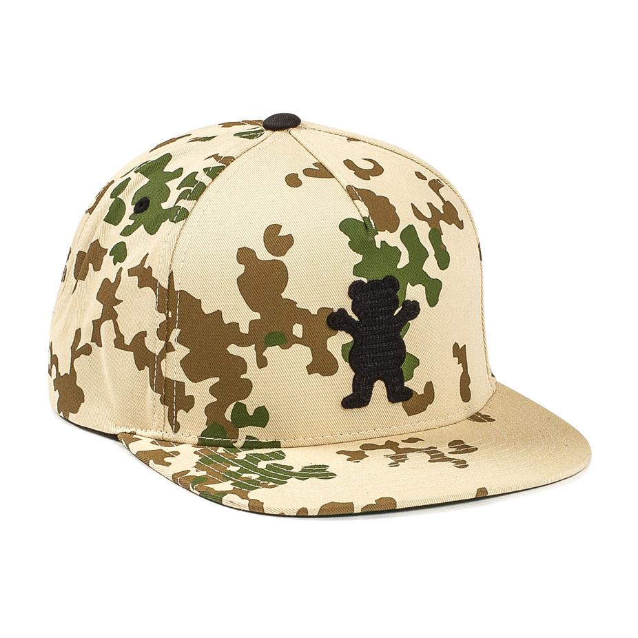 Grizzly OG Bear Chainstitch Snapback Hat — Camo  d7a3e89d9338