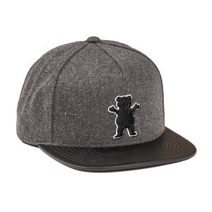 Grizzly Award Snapback Hat — Black