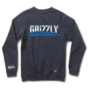 Grizzly Tie-Dye Stamp Crewneck — Navy