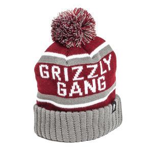Grizzly Fanatic Pom Beanie — Burgundy