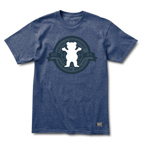 Grizzly Hallmark T-Shirt - Denim Heather