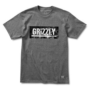 Grizzly Hotbox Logo T-Shirt — Charcoal