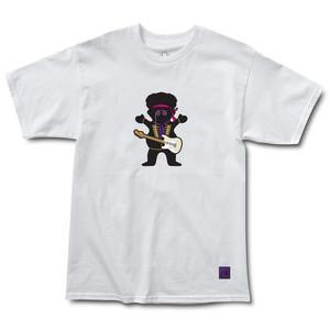 Grizzly Jimi Hendrix Bear T-Shirt - White