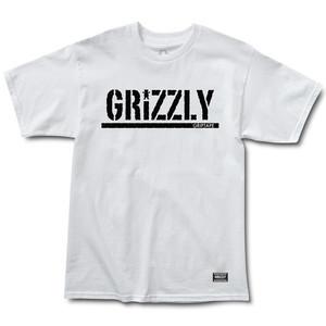 Grizzly OG Stamp Logo T-Shirt - White