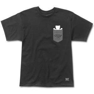 9ccec30e47e1 Grizzly Credits Pocket T-Shirt - Black