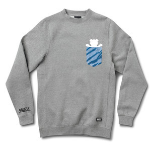 Grizzly Pocket Tie-Dye Crewneck — Heather
