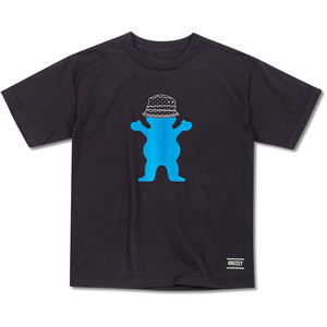 Grizzly Boo Johnson Youth T-Shirt — Black