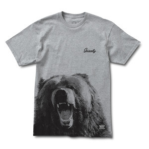 Grizzly Engraved Bear T-Shirt — Black