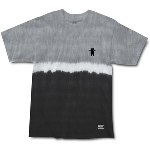 Grizzly Tie-Dye Stripe Mini Bear T-Shirt — Black