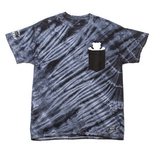 Grizzly Tie-Dye Pocket T-Shirt — Black