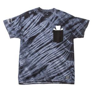 Grizzly Tie-Dye Pocket T-Shirt — Black