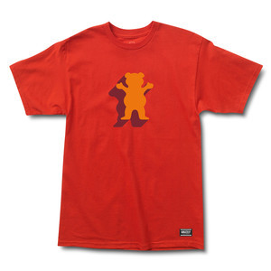 Grizzly Shade OG Bear Youth T-Shirt — Red