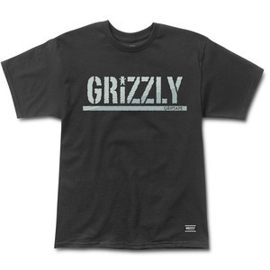 Grizzly Shade Stamp T-Shirt — Black