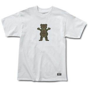Grizzly Forester OG Bear T-Shirt - White