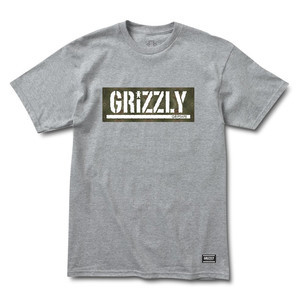 Grizzly Forester Stamp T-Shirt - Grey