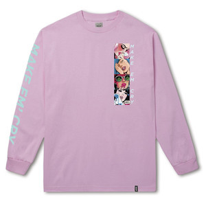 HUF Make 'Em Cry Long Sleeve T-Shirt - Pink
