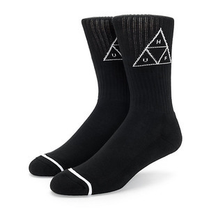HUF Triple Triangle Crew Sock - Black