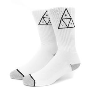HUF Triple Triangle Crew Sock - White