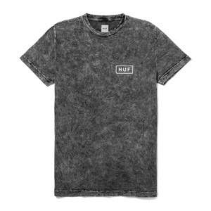HUF Acid Wash Bar Logo T-Shirt - Black
