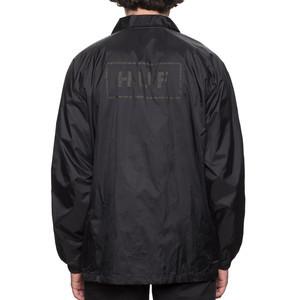 HUF Bar Logo Coaches Jacket - Black